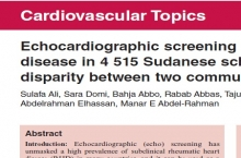The First Echocardiography Screening Project for Rheumatic Heart Disease is Published