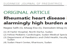 Publication of a paper describing RHD patterns in Al Fashir-North Darfur